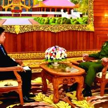 Senior General Min Aung Hlaing receives Asahi Shimbun of Japan, answers the questions