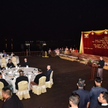 Senior General Min Aung Hlaing hosts dinner to Chief of Defence Forces of Royal Thai Armed Forces