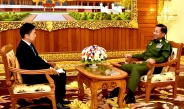 Senior General Min Aung Hlaing meets Japan's Asahi Shimbun News Agency, replies to questions