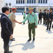 Myanmar Tatmadaw goodwill delegation led by Senior General Min Aung Hlaing arrives back from Thailand