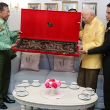 Senior General Min Aung Hlaing meets President of Privy Council General Prem Tinsulanonda