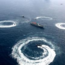 နိုင်ငံတော်ကာကွယ်ရေးစွမ်းပကားမြှင့်တင်ရေးအတွက် တပ်မတော်(ရေ)၏ စစ်ရေယာဉ် တပ်ပေါင်းစု ပင်လယ်ပြင်စစ်ဆင်မှု (Combined Fleet Exercise-Sea Shield 2019) လေ့ကျင့်ဆောင်ရွက်