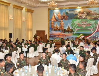 Victorious Tatmadaw sportspersons, coaches honoured at a ceremony