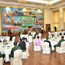 Senior General Min Aung Hlaing receives chairpersons, vice chairpersons of 32 political parties