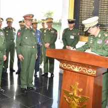Statues of six Aung San Thuriya title winners unveiled to mark 74th Anniversary of Armed Forces Day