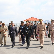 Myanmar Tatmadaw delegation led by Senior General Min Aung Hlaing leaves Nay Pyi Taw to attend 16th ACDFM in Thailand