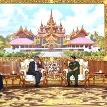 Senior General Min Aung Hlaing receives Ambassador of India to Myanmar H.E. Mr. Saurabh Kumar