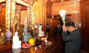 Tatmadaw goodwill delegation led by Senior General Min Aung Hlaing pays homage to Buddha Tooth Relic in Beijing