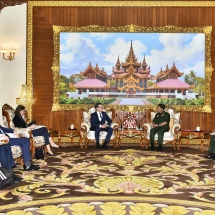Senior General Min Aung Hlaing receives H.E. Mr. Raphael Nageli,Head of Asia-Pacific Division of Federal Department of Foreign Affairs of Switzerland
