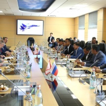 Senior General Min Aung Hlaing visits MIG-29 Service Support Center in Moscow, attends dinner hosted by Defence Minister of Russian Federation