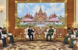 Senior General Min Aung Hlaing receives Ambassador of Laos to Myanmar H.E. Mr. Heuangseng Khamdalavong