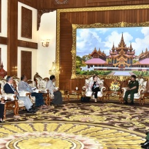 Senior General Min Aung Hlaing receives delegation led by Chair of Independent Commission of Enquiry