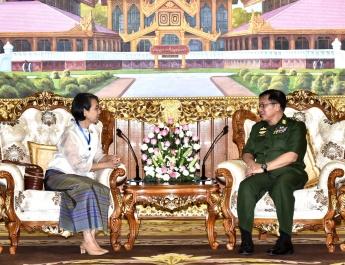Senior General Min Aung Hlaing receives Thai Ambassador H.E. Mrs. Suphatra Srimaitreephithak