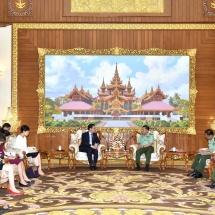 Senior General Min Aung Hlaing receives Chinese Ambassador to Myanmar H.E. Mr. Hong Liang