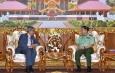 တပ္မေတာ္ကာကြယ္ေရးဦးစီးခ်ဳပ္ ဗုိလ္ခ်ဳပ္မွဴးႀကီး မင္းေအာင္လႈိင္ ျမန္မာႏုိင္ငံဆုိင္ရာ အိႏၵိယႏုိင္ငံ သံအမတ္ႀကီး H.E. Mr. Saurabh Kumar အား လက္ခံေတြ႕ဆုံ