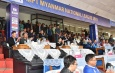 Myanmar National League 2019 ဒုတိယအေက်ာ့အဖြင့္ပြဲစဥ္ျဖစ္သည့္ Shan United အသင္းႏွင့္ Chinland FC အသင္းတုိ႔အႀကိတ္အနယ္ယွဥ္ၿပိဳင္၊ တပ္မေတာ္ ကာကြယ္ေရးဦးစီးခ်ဳပ္ ဗုိလ္ခ်ဳပ္မွဴးႀကီး မင္းေအာင္လႈိင္ ၾကည့္႐ႈအားေပး
