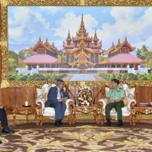 Senior General Min Aung Hlaing receives Indian Ambassador to Myanmar H.E. Mr. Saurabh Kumar