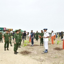 Office of Commander-in-Chief (Army) holds first monsoon tree growing ceremony for 2019; Tatmadaw has grown more than 11 million industrial, perennial, shade and windbreak plants from 2011 to 2018, 80 percent of which thrive; plans underway to grow more trees
