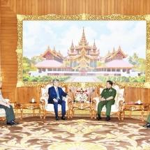 Senior General Min Aung Hlaing receives Chinese Ambassador to Myanmar H.E. Mr. Chen Hai