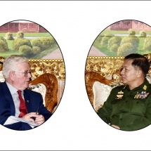 Senior General Min Aung Hlaing receives European Union Special Representative for Human Rights