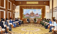 SENIOR GENERAL MIN AUNG HLAING RECEIVES VICE ADMINISTRATOR MR. XU ZHANBIN OF SASTIND OF CHINA