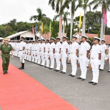 Senior General Min Aung Hlaing welcomed by Flag Officer Commanding-in-Chief of Indian Eastern Naval Command, holds talks, visits Bharat Dynamics Limited, Thotlakonda Buddhist Complex