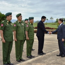 Myanmar Tatmadaw goodwill delegation led by Senior General Min Aung Hlaing arrives in Republic of India