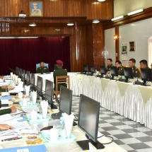 Senior General Min Aung Hlaing attends ceremony of choice of military arms for 62nd Intake of DSA, inspects construction of war veterans' housing