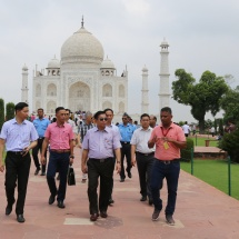 Myanmar Tatmadaw goodwill delegation visits Taj Mahal, Agra Fort,Air Force Station (Agra)
