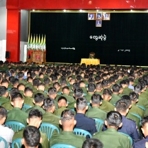 TATMADAW SYSTEMATICALLY EXERCISES DEMOCRACY BY PERMITTING PRESENTATIONS OF INDIVIDUAL REQUIREMENTS AND DIFFICULTIES EVERYDAY AND ALSO AT DURBARS AND THROUGH CORRECT RESPONSE OF OFFICIALS AT ALL LEVELS