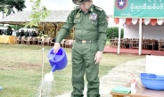 Senior General Min Aung Hlaing attends second monsoon tree-planting ceremony for 2019 of PyinOoLwin Station