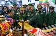 တပ္မေတာ္ကာကြယ္ေရးဦးစီးခ်ဳပ္ ဗိုလ္ခ်ဳပ္မွဴးႀကီး မင္းေအာင္လိႈင္ ႐ုရွားဖက္ဒေရးရွင္းႏိုင္ငံတြင္ က်င္းပျပဳလုပ္လ်က္ရွိသည့္ International Army Games-2019 ပိတ္ပြဲအခမ္းအနားသို႕ တက္ေရာက္၊ ႐ုရွားဖက္ဒေရးရွင္းႏုိင္ငံ၊ ကာကြယ္ေရး၀န္ႀကီး Army General Sergei Shoigu ႏွင့္ ေတြ႕ဆုံေဆြးေႏြး