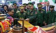 တပ္မေတာ္ကာကြယ္ေရးဦးစီးခ်ဳပ္ ဗိုလ္ခ်ဳပ္မွဴးႀကီးမင္းေအာင္လိႈင္ ႐ုရွားဖက္ဒေရးရွင္းႏိုင္ငံတြင္ က်င္းပျပဳလုပ္လ်က္ရွိသည့္ International Army Game 2019 ပိတ္ပြဲအခမ္းအနားသို႔တက္ေရာက္၊ ႐ုရွားဖက္ဒေရးရွင္းႏိုင္ငံ ကာကြယ္ေရးဝန္ႀကီး Army General Sergei Shoigu ႏွင့္ ေတြ႕ဆုံေဆြးေႏြး(႐ုပ္သံသတင္း)