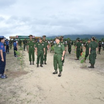 Families of Office of Commander-in-Chief (Army, Navy and Air), military commands hold third collective monsoon treeplanting ceremonies, Tatmadaw helicopters drop seeds