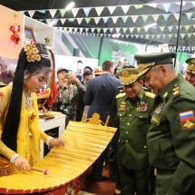 Senior General Min Aung Hlaing attends closing ceremony of International Army Games-2019 held in Russian Federation, meets with Defence Minister Army General Sergei Shoigu of Russian Federation