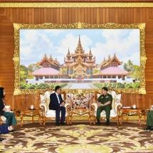 Senior General Min Aung Hlaing receives Cambodian Ambassador to Myanmar