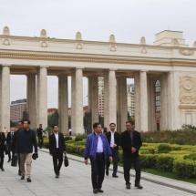 Delegation led by Senior General Min Aung Hlaing visits Gorky Park, Cathedral of Christ the Saviour