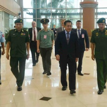 Senior General Min Aung Hlaing leaves for Russian Federation to attend closing ceremony of International Army Games-2019 being held in Russian Federation