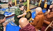 Medical treatment provided for local people observed, merit sharing ceremony for all-round renovation of YwaU Monastery, Yaybokgyi Village, Pwintbyu Township, Minbu District, Magway Region held