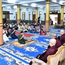Tatmadaw, well-wishers donate cash and kind to Nyaungdon Monastery,Jivitadana Sangha Hospital (Yangon)