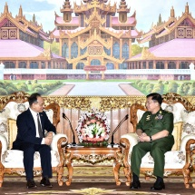 Senior General Min Aung Hlaing receives Ambassador of Nepal