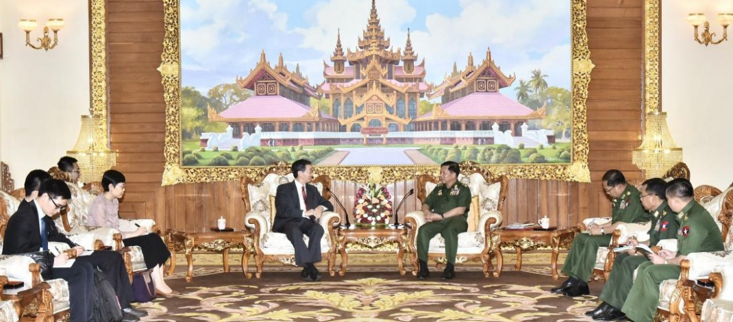Senior General Min Aung Hlaing receives Special Envoy of Asian Affairs of Ministry of Foreign Affairs of People's Republic of China
