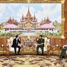 Senior General Min Aung Hlaing receives Japanese Ambassador to Myanmar