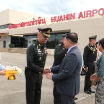 Myanmar Tatmadaw delegation led by Senior General Min Aung Hlaing returns from Thailand