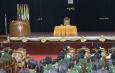 တပ္မေတာ္ကာကြယ္ေရးဦးစီးခ်ဳပ္ ဗိုလ္ခ်ဳပ္မွဴးႀကီး မင္းေအာင္လိႈင္ တပ္မေတာ္(ၾကည္း) ဗိုလ္သင္တန္းေက်ာင္း(ေမွာ္ဘီ)မွ နည္းျပအရာရွိမ်ား၊ ေျခလ်င္တပ္စုမွဴး(အမ်ိဳးသမီး) သင္တန္းႏွင့္ ဘြဲ႕ရအမ်ိဳးသမီးဗိုလ္ေလာင္းသင္တန္း တို႔မွ သင္တန္းသူမ်ားအား ေတြ့ဆံုအမွာစကားေျပာၾကား(႐ုပ္သံသတင္း)