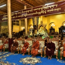 Rice, oil, medicines and other offertories donated to SSMNC chairman, Bhamo and Ma Soe Yein monasteries