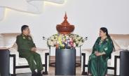 ဧည့္သည္ေတာ္ နီေပါဖက္ဒရယ္ဒီမိုကရက္တစ္ သမၼတႏိုင္ငံသမၼတ H.E. Mrs. Bidya Devi Bhandari ႏွင့္ တပ္မေတာ္ကာကြယ္ေရးဦးစီးခ်ဳပ္ ဗိုလ္ခ်ဳပ္မွဴးႀကီး မင္းေအာင္လိႈင္ ရင္းရင္းႏွီးႏွီး ေတြ႕ဆံု