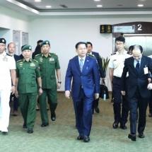 တပ်မတော်ကာကွယ်ရေးဦးစီးချုပ် ဗိုလ်ချုပ်မှူးကြီး မင်းအောင်လှိုင် ဦးဆောင်သည့် မြန်မာ့တပ်မတော် ကိုယ်စားလှယ်အဖွဲ့ ဂျပန်နိုင်ငံသို့ချစ်ကြည်ရေးခရီးထွက်ခွာ(ရုပ်သံသတင်း)