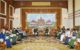 Senior General Min Aung Hlaing receives deputy minister of Defence of Russian Federation