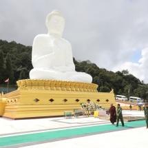 Senior General Min Aung Hlaing views progress in construction of Thatta Thattaha Maha Bawdi Pagoda